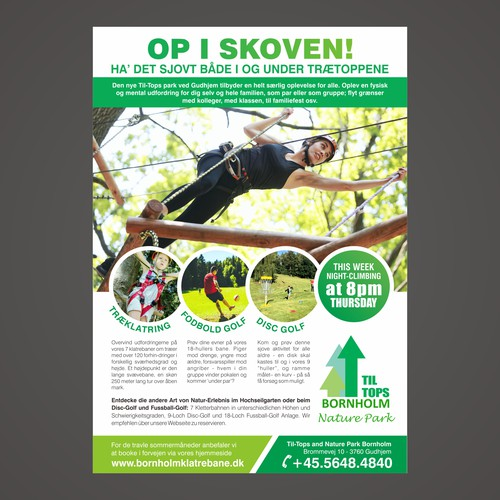 Flyer for Til Tops Bornholm