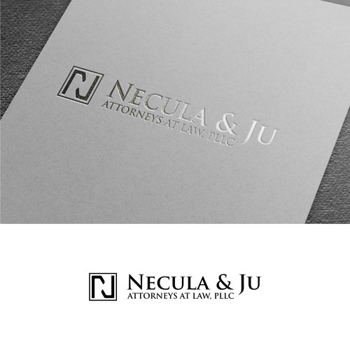 Simple and luxury logo for Necula&Ju