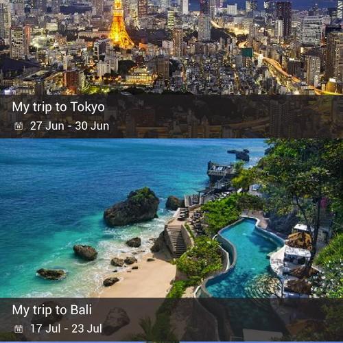 Trip Planning Mobile App Design