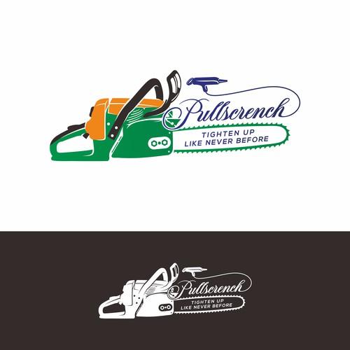 Pullscrench logo design