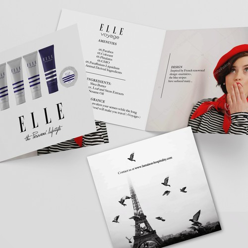 Square brochure for Elle