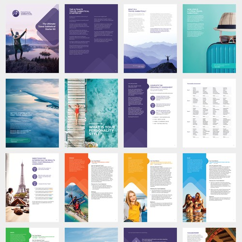 E brochure for travel and tour