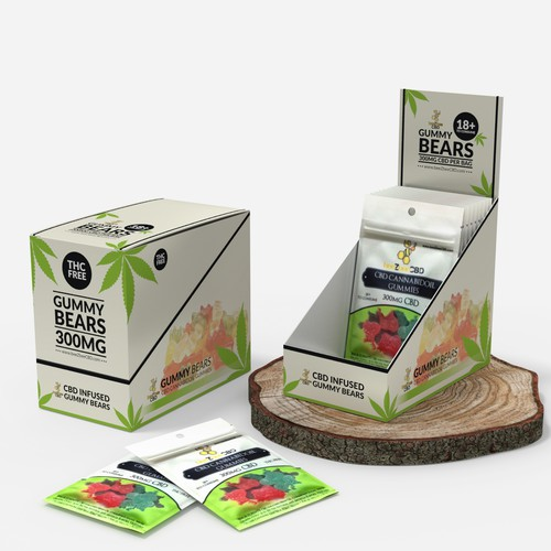 Display box for CBD Gummy
