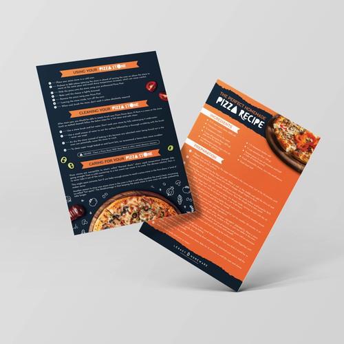 Pizza stone & peel set instruction sheet