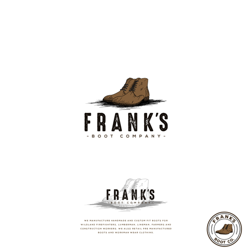 Logo entry for the contest Frank's Boot Company.