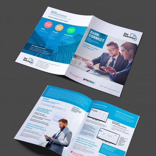 Erstelle eine Broschüre für das Portal BANK-CONNECT