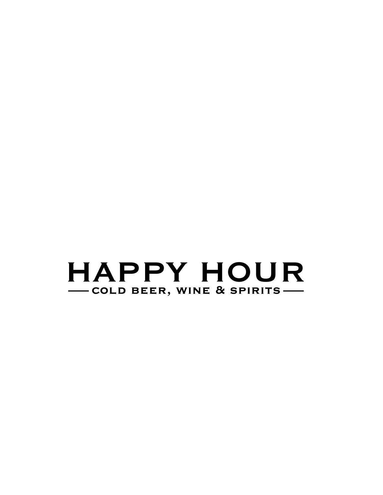 Happy Hour needs a logo with a unique twist.