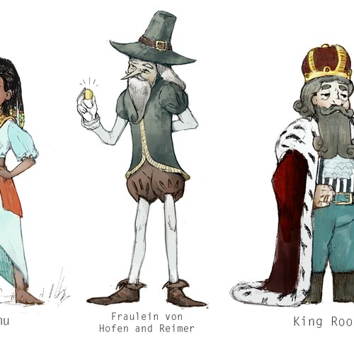 Concept of characters for the book
