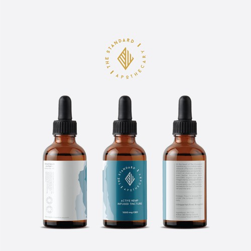 Logo and label design for The Standard Apothecary