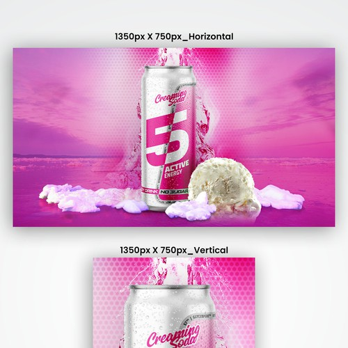 Fun/Exciting Flavour Inspired Banner for an Energy Drink - Taste with your eyes