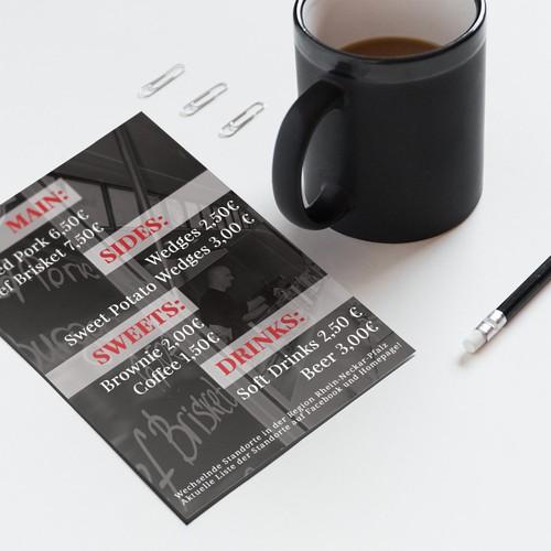 Flyer for regular client