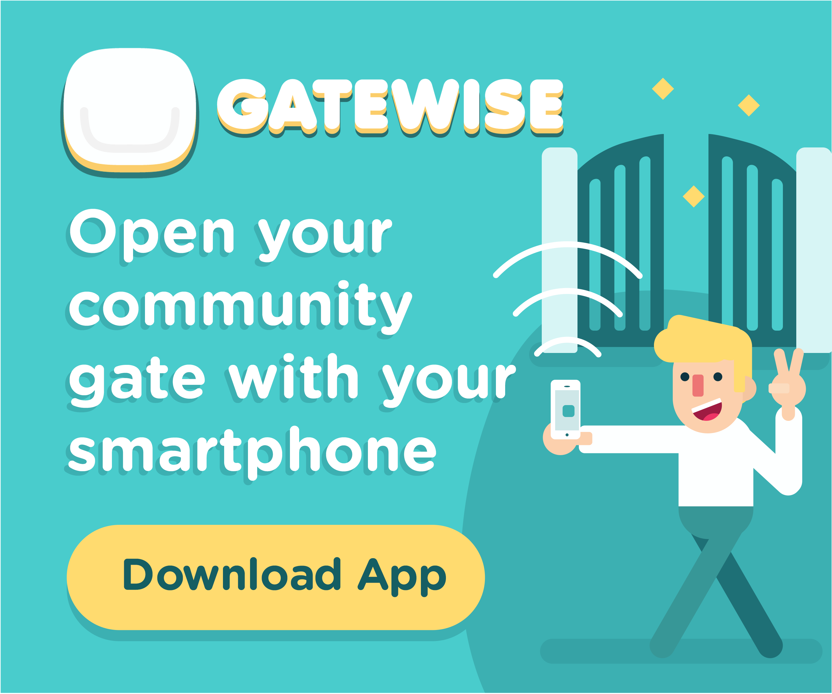 Open the Gate with An App - Banner