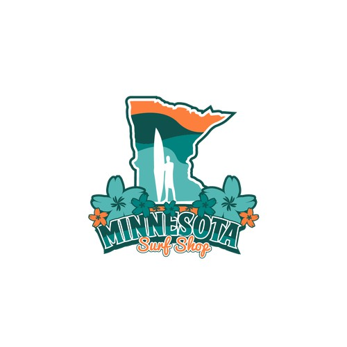 Fun logo for Minnesota Surf Shop