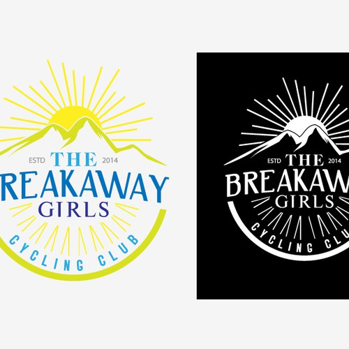 Create an inspiring logo for The BreakawayGirls, a new Cycling Club & Community