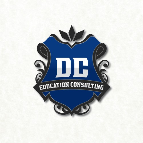 Crest logo for an education consulting