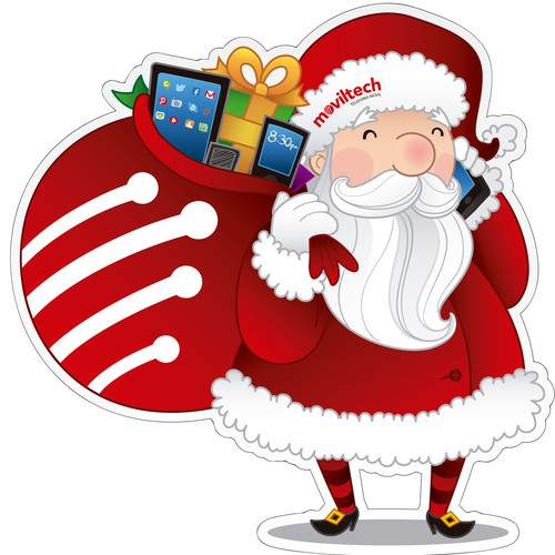 Christmas illustration sticker design