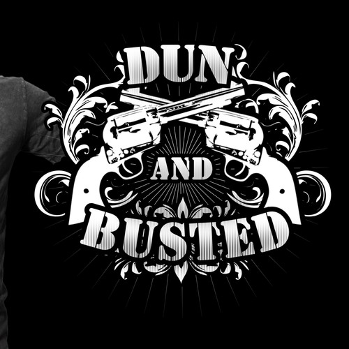 Bold logo tshirt design for Dun and Busted