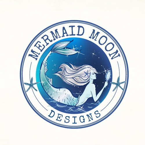 Mermaid logo theme for Mermaid Moon lifestyle brand