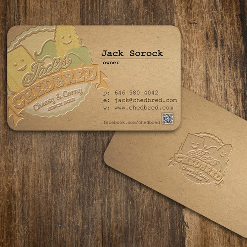 Jack's Chedbred: artisan kraft business cards