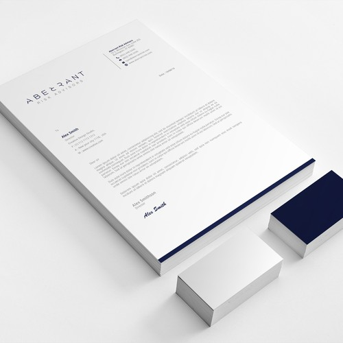 Modern & Professional Stationery Design