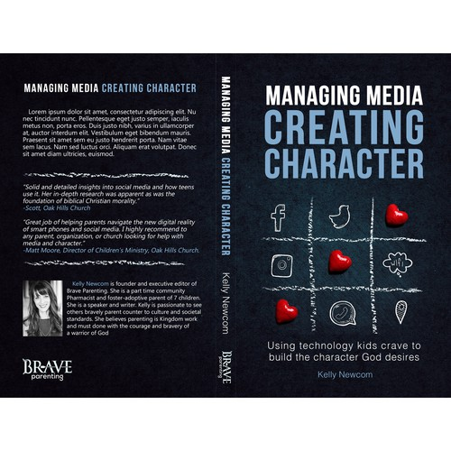 Book Cover Design / Managing Media Creating Character