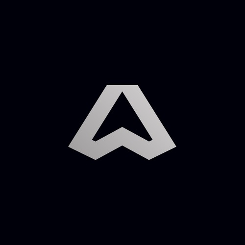 A high-end, abstract logo for a car dealership f