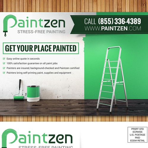 Create a business postcard for Paintzen