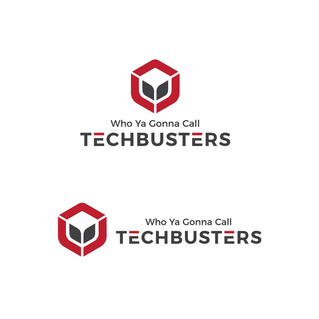 Design a Ghostbuster-like Logo for a tech company called TechBusters (without using a ghost)