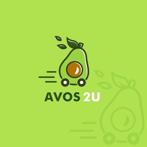 Fun logo for an avocado delivery service company