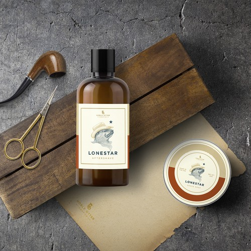Cowboy otter for Lonestar Aftershave and Shave soap
