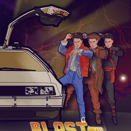 Back to the future inspired poster