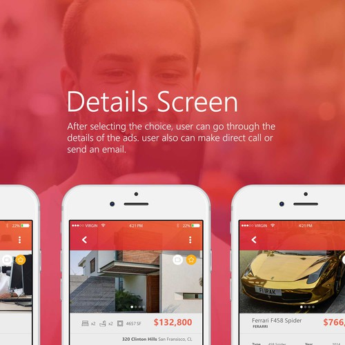Design an elegant simple classified mobile iPhone app.