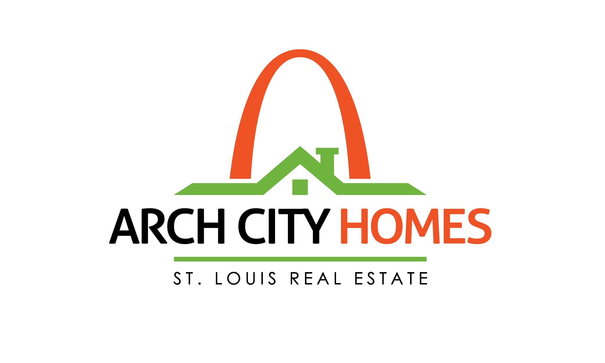 Modern logo design for real estate agent website Arch City Homes