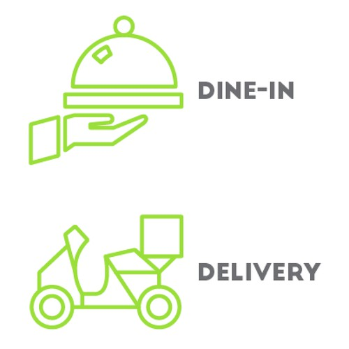 Icons for a food app.