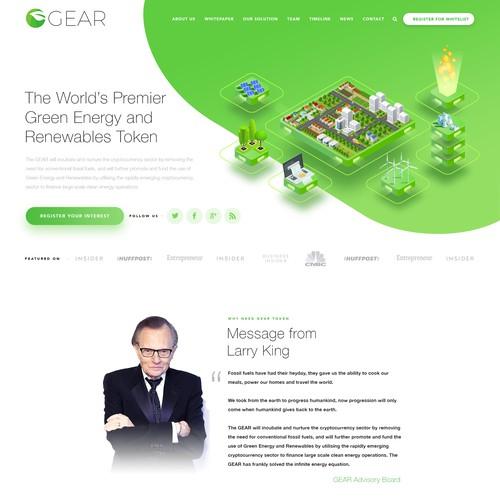 Green Energy Crypto Blockchain Website Design