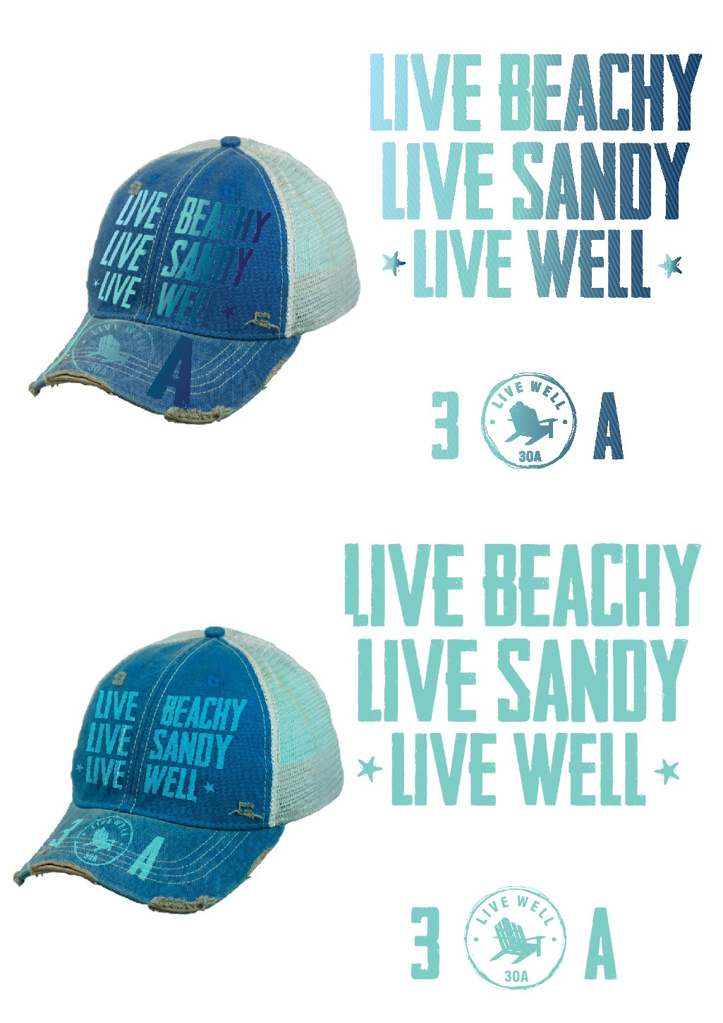 Design a hat to be sold on 30A!