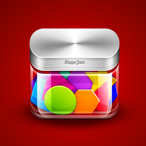 Transparent ShapeJam App icon