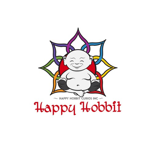 Logo for a happy hobbit