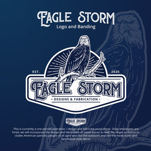 Vintage logo for Eagle Storm
