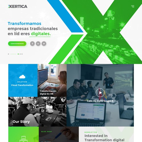 Xertica Cloud Consulting Website Design