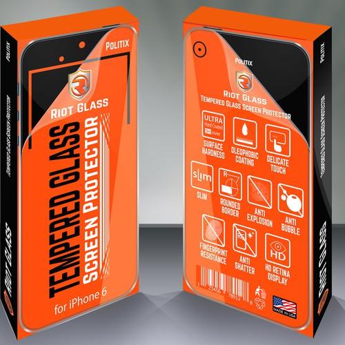 Create Premium Packaging Design for Mobile Phone Screen Protector(s)