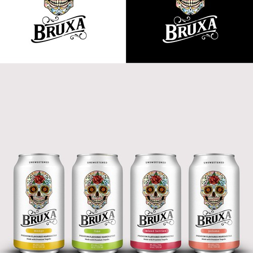 Logo for Packaging design concept for margaritas drink in a can