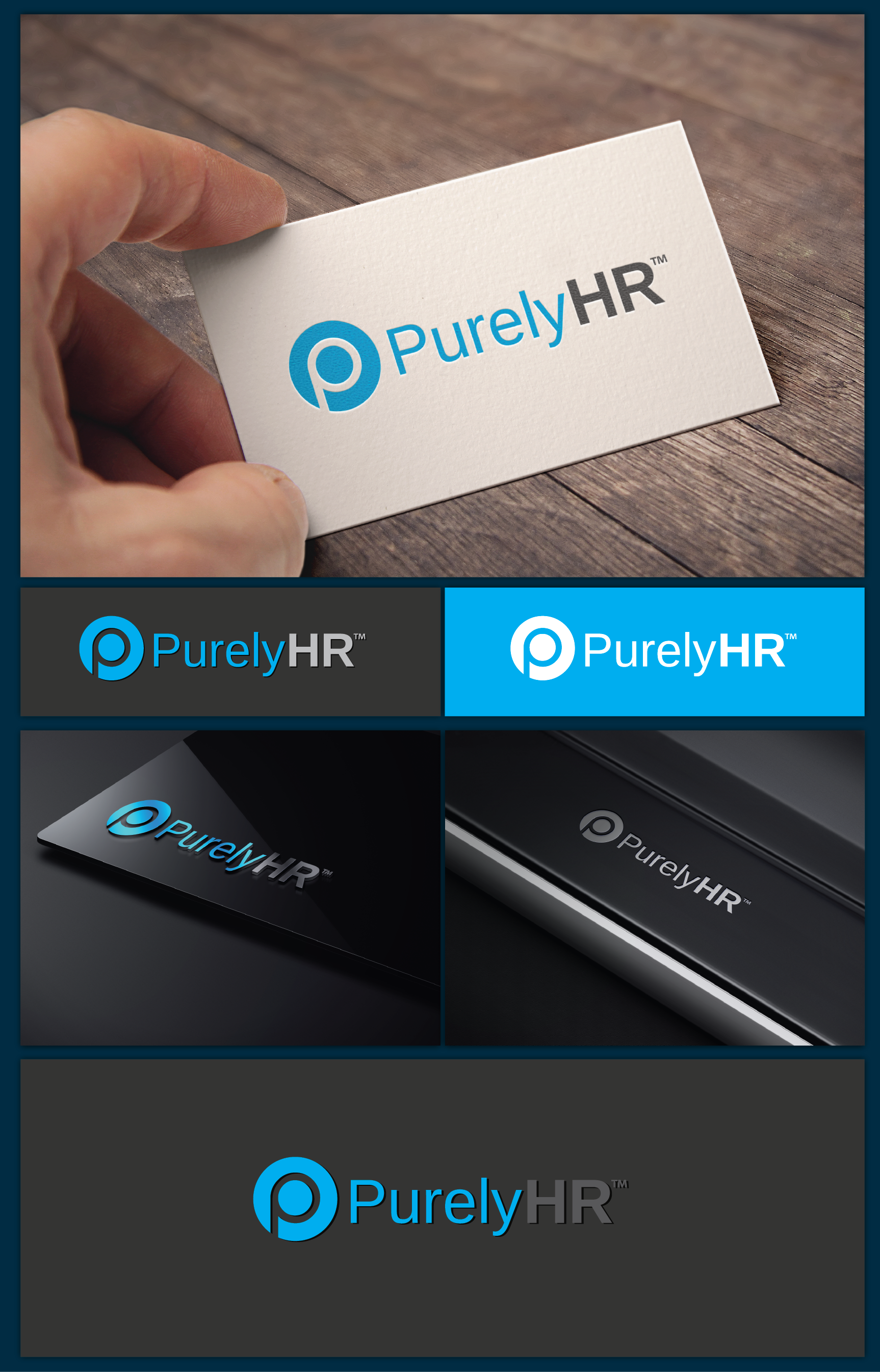Create a logo for PurelyHR, our web-based HR software!