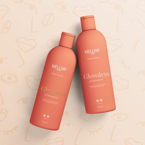 Packaging design for self-tanning lotion