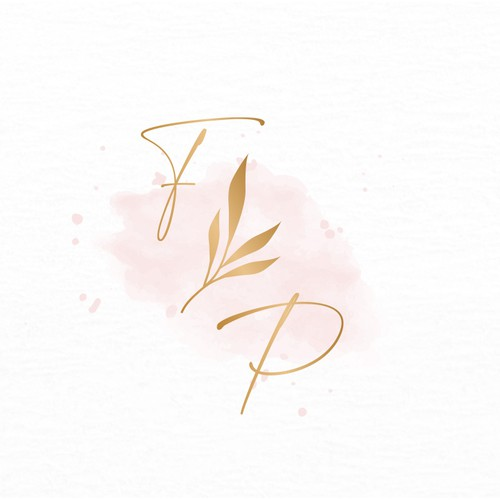 Watercolor inspired floral looking logo design