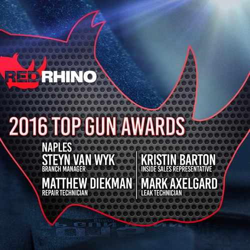red rhino plaque awards design