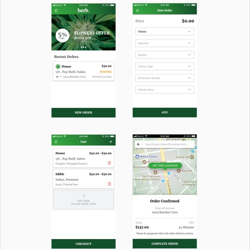 herb. Weed delivery made easy