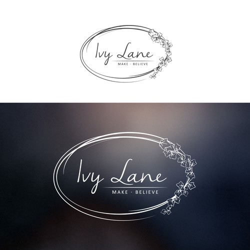 feminine hand-sketched logo for Ivy Lane