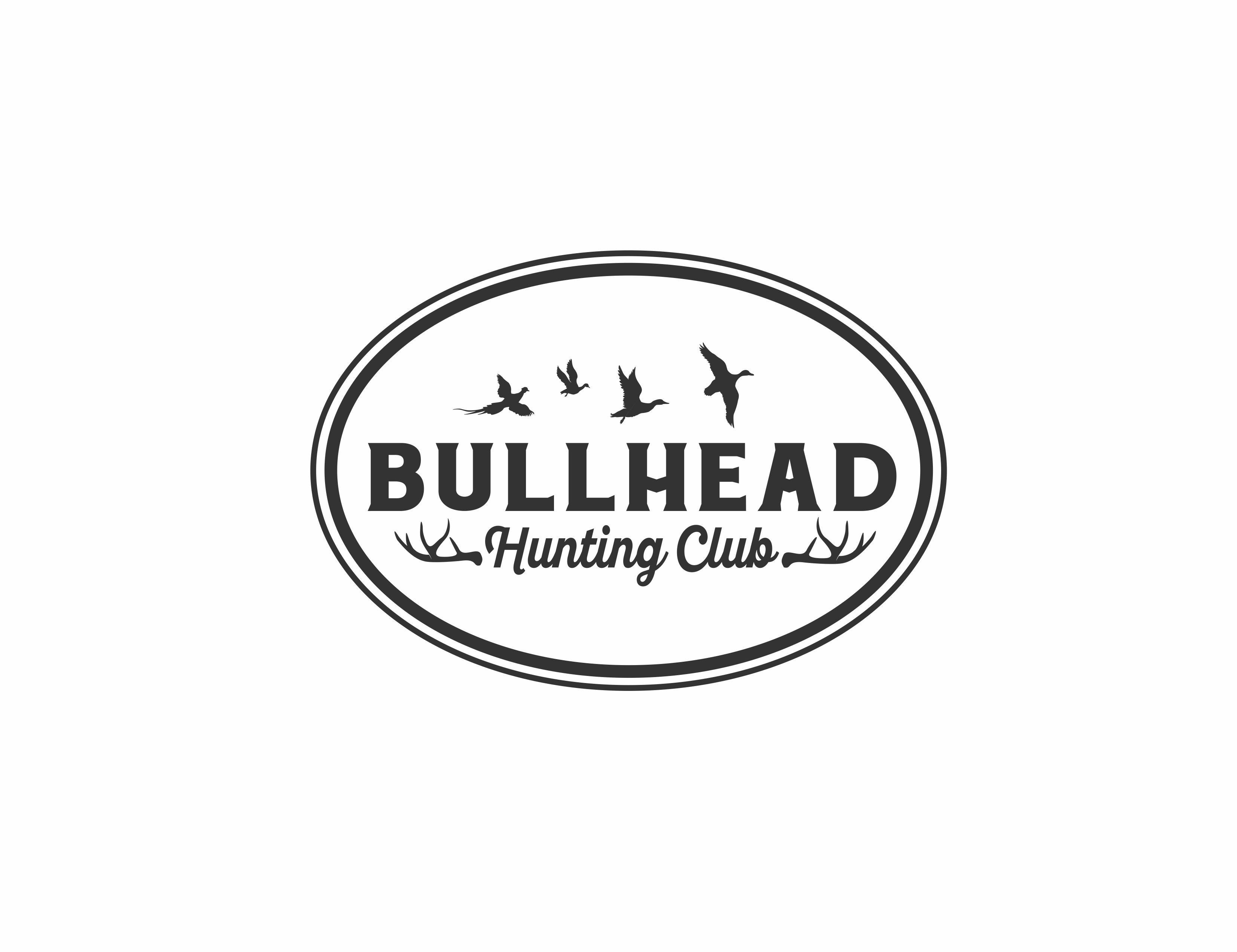 Design a bird hunting logo for Bullhead Hunting Club