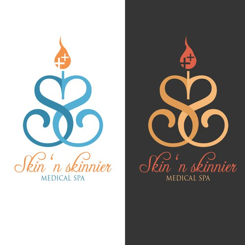 Create an elegant logo for an exclusive medical spa in Paradise Valley